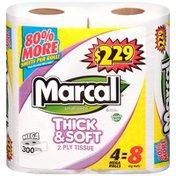 Marcal® Thick & Soft 2-Ply 300 ct Mega Rolls $2.29 Bathroom Tissue