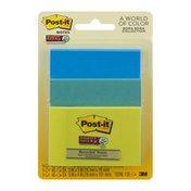 Post-it Notes Super Sticky Bora Bora Collections - 3 PK
