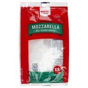 Market Pantry Cheese, Deli Sliced, Low-Moisture Part-Skim, Mozzarella