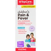 TopCare Pain & Fever, Grape Flavor, Children's