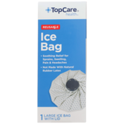 TopCare Ice Bag Soothing Relief For Sprains, Swelling, Pain & Headaches Reusable Large Bag With Lid