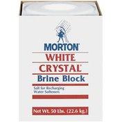 Morton Brine Block White Crystal For Recharging Water Softeners Brine Block