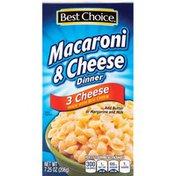Best Choice 3 Cheese Mac & Cheese Dinner