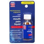 Rite Aid PROFESSIONAL STRENGTH Benzocaine 20% MOUTH SORE MAXIMUM PAIN RELIEF ORAL ANESTHETIC LIQUID