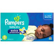 Pampers Extra Protect Pampers Extra Protection Diapers Size 3 Super Pack 92 Count  Diapers
