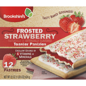 Brookshire's Toaster Pastries, Strawberry, Frosted