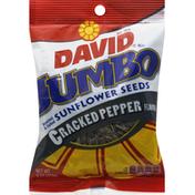DAVID Seeds Sunflower Seeds, Jumbo, Cracked Pepper Flavor