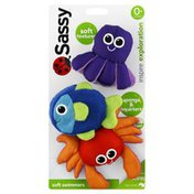 Sassy Sponge & Squirters, Soft Swimmers, 0+ Months