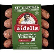 Aidells Jalapeno & Tomatillo Smoked with Queso Fresco Chicken Sausages