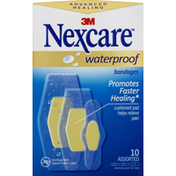 Nexcare Bandages, Waterproof, Assorted