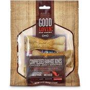 Good Lovin' Chicken Jerky Wrapped Compressed Rawhide Bones Dog Chews