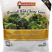 Hanover Premium Vegetables, Broccoli with Cheese Sauce, Steam-In-Bag