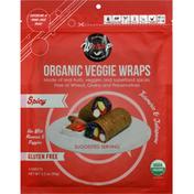 WrawP Veggie Wraps, Organic, Turmeric & Jalapeno, Spicy