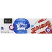 Essential Everyday Freezer Bags, Slider, Quart