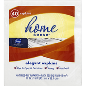 Kroger Napkins, Elegant, Three-Ply
