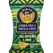 Siete Tortilla Chips, Grain Free, Dairy Free, Jalapeno Lime