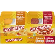 Lunchables Nachos Cheese Dip & Salsa & Pizza with Pepperoni Meal Kit Multipack