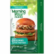 Morning Star Farms Meatless Chicken Patties, Plant Based Protein Vegan Meat, Original