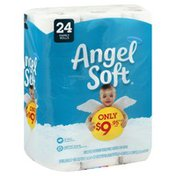 Angel Soft Bathroom Tissue, Unscented, 2-Ply, Family Rolls