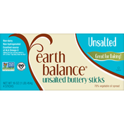 Earth Balance Buttery Sticks, Unsalted