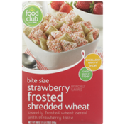 Food Club Bite Size Strawberry Frosted Shredded Wheat Cereal