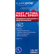 CareOne Fast Acting Nasal Spray 30ml