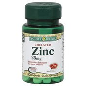 Nature's Bounty Zinc, Chelated, 25 mg, Tablets