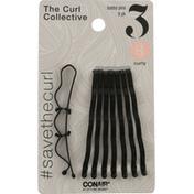 Conair Bobby Pins, 3 Curly