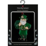 Harvey Lewis Holiday Ornament, Irish Santa