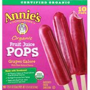 Annie's Fruit Juice Pops, Organic, Grapes Galore