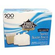 First Street Trash Bags, Twist Ties, Small