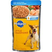 Pedigree Archived Little Champions Meaty Ground Dinner With Chicken & Beef Wet Dog Food