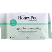 The Honey Pot Pantiliners, Everyday, Non Herbal, Organic