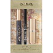 Icons Gift Set Voluminous Mascara, Infallible Liner & Colour Riche Lipcolor