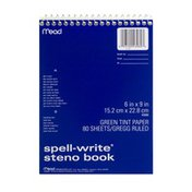 Mead Spell-Write Steno Book Green Tint Paper