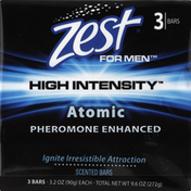 Zest Deodorant Soap, Scented, For Men, Atomic