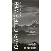 Charlotte's Web Hemp Extract, Full Strength, Capsules