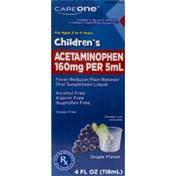 CareOne Children's Acetaminophen 160mg Grape Oral Liquid