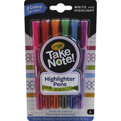 Crayola Highlighter Pens, 2-in-1, Dual-Ended