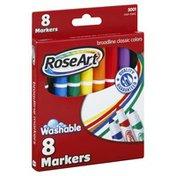 Rose Art Markers, Washable, Broadline, Classic Colors