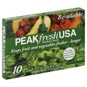 Peak Fresh Produce Bags, Re-usable