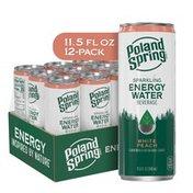 Poland spring Sparkling Energy Water Beverage White Peach Flavor