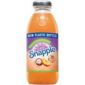 Snapple All Natural Peach Mangosteen Flavored Juice Drink From Concentrate