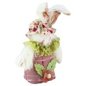Gerson Bunny Ornament, Fabric, 5 Inch