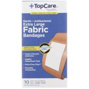 TopCare Antibacterial Fabric First Aid Antiseptic All One Size Extra Large Bandages