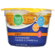 Food Club Original Microwaveable Macaroni & Cheese Dinner