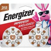 Energizer Batteries Size 312, Brown Tab