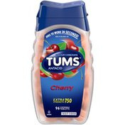 Tums Extra Strength 750 Cherry Chewable Tablets Antacid