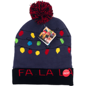 Supreme Toy and Party Beanie Hat, Fa La La, LED Knit
