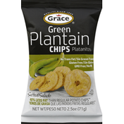 Grace Chips, Green Plantain, Salted